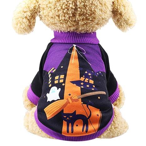 NYRAO Ropa de Halloween para Perros Ropa para Mascotas Ropa ...