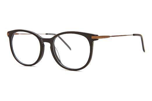 07782c1f9330 SmartBuy Collection Lay Unisex Prescription Eyeglass Frames - Full Rim  Round Designer Glasses Frame - Lay Black at Amazon Women's Clothing store: