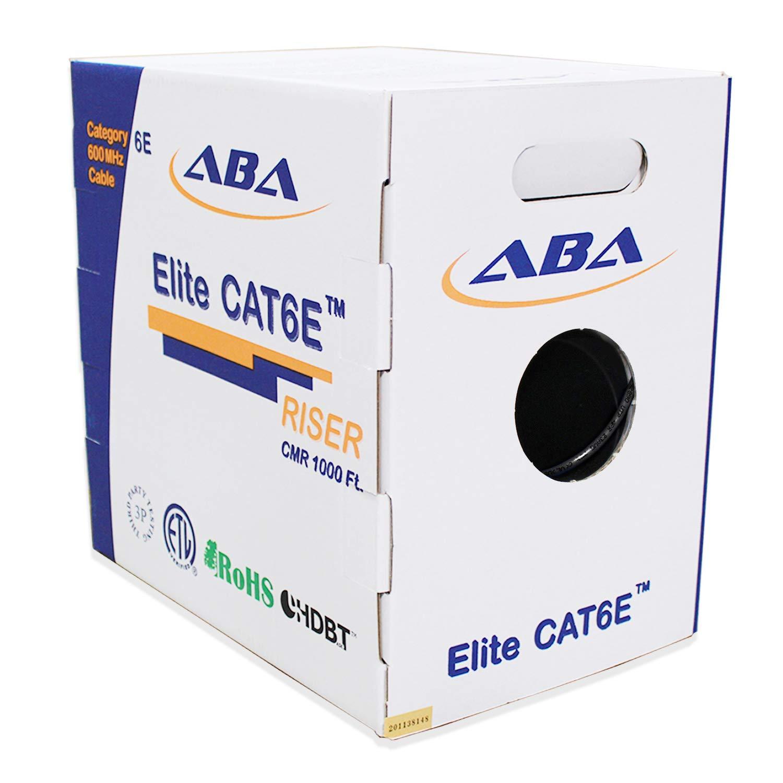Bulk Ethernet Cable in Blue by Digilink Global 600MHz ETL Listed CMR UTP 24AWG 500ft CAT6e Riser Solid Bare Copper