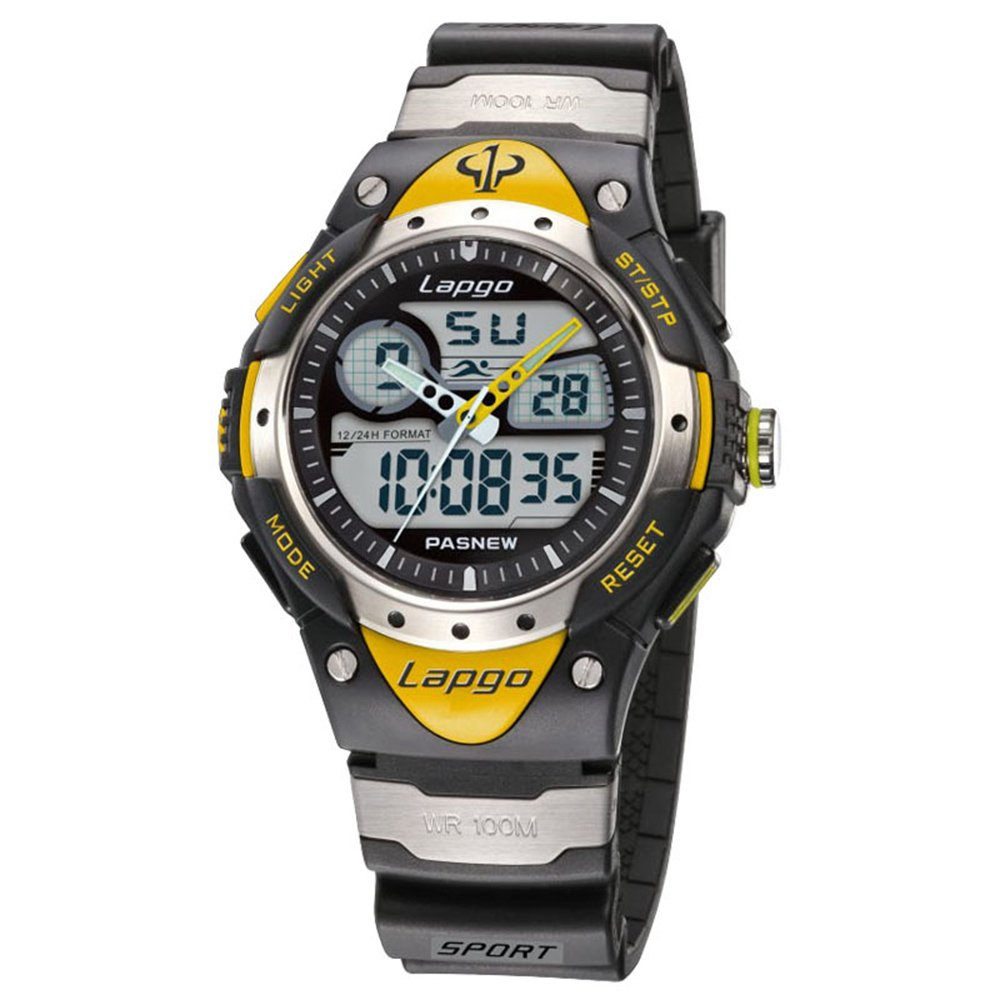 Boys Watches, Analog Digital Dual Time Waterproof Sports Casual Boys Wrist Watches 388ad Yello