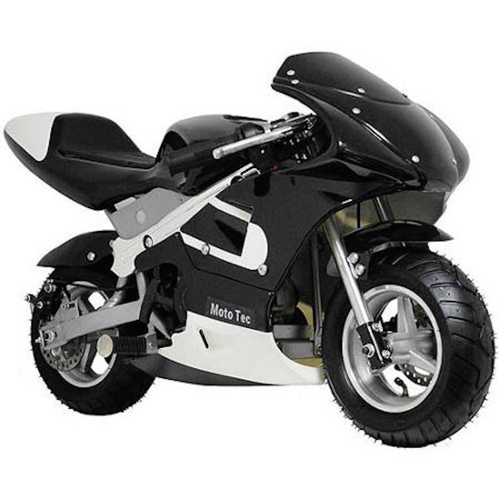 Amazon.com: MotoTec Gas Pocket Bike Motorcycle -Black - Non CA ...