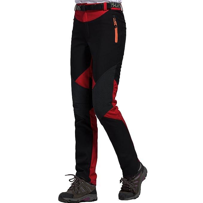 b7f73d560 Sidiou Group Women Waterproof Trousers Fleece Hiking Climbing Pants  Softshell Pants Trekking Pants