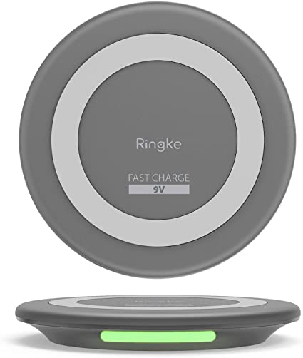 Ringke Wireless Charger, MFi-Certified Fast 9V Wireless Charging Pad Compatible with Qi Charge Devices, Most of The Apple iPhone and Android Devices