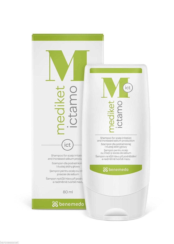 Amazon com: Mediket Ictamo Shampoo 80ml Seborrhoea in Hair, Scabs