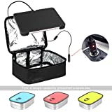 Portable Oven 12V Personal Crockpot Slow Cooker Microwave with Stainless Steel Lunch Containers – Mini Food Warmer Bag for Car, Business Travel, Camping, Truckers, Office Desk