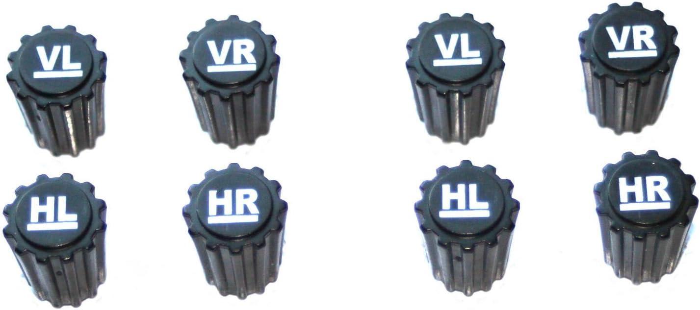 8x Reifenmarkierung Ventilkappen Reifenmarkier Set Radmarkierer Kennzeichnung Winterreifen Sommerreifen Winterräder Reifenwechsel Auto