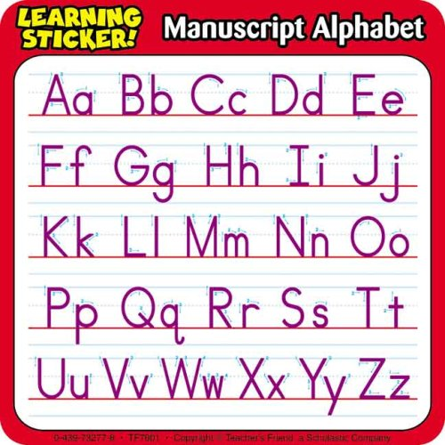 Manuscript Alphabet Learning - Learning Alphabet Stickers Manuscript