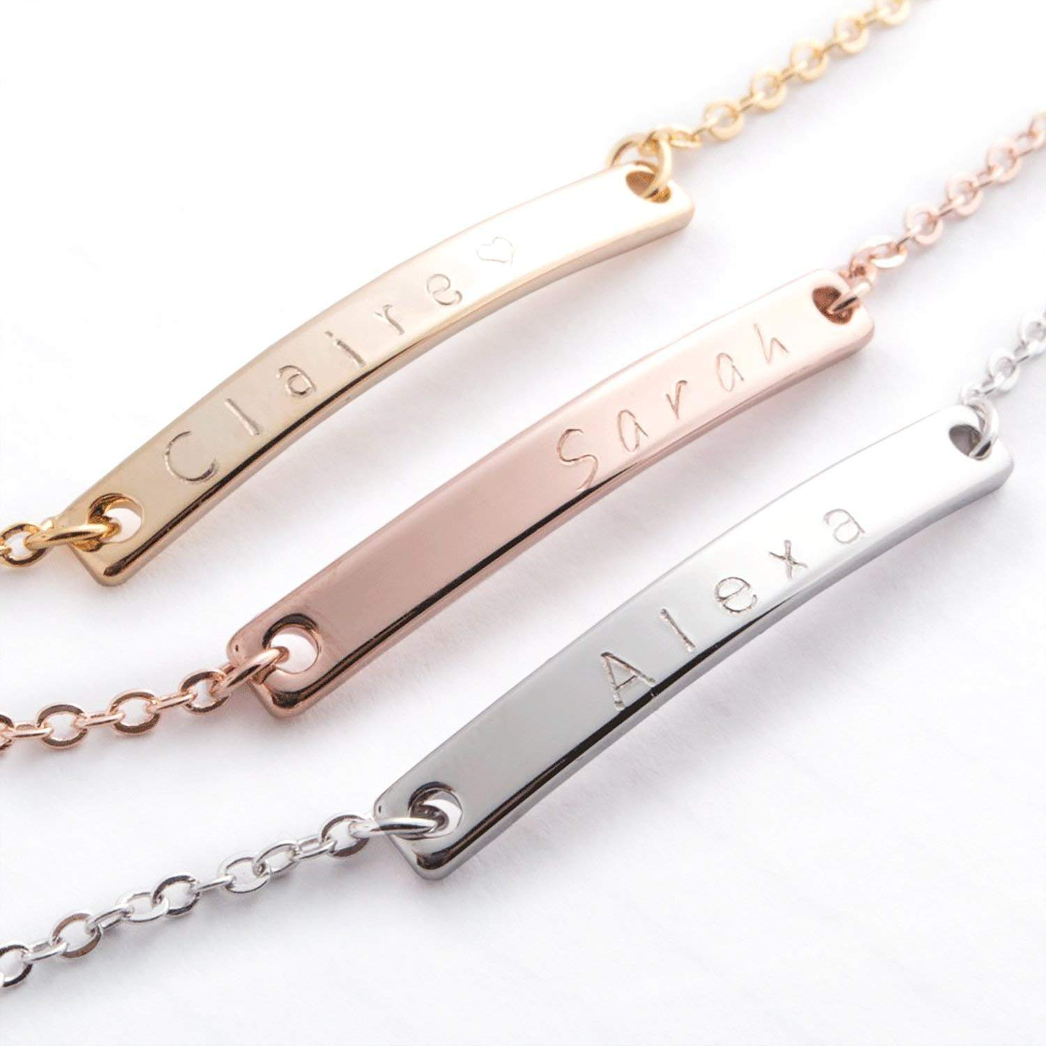 silver Small Open heart Anklet in Gold Rose Gold  Delicate thin gold ankle bracelet