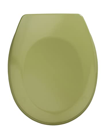 ADOB WC Sitz Klobrille Holzkern verstellbare messingverchromte Scharniere 85074 moosgr/ün