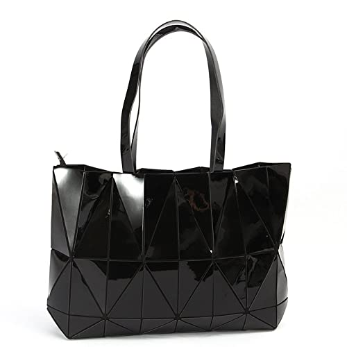 Amazon.com  KAISIBO Unique Design Geometric Lattice Handbag Totes Purses  for Women Black  Shoes 6ebc2a25431cd