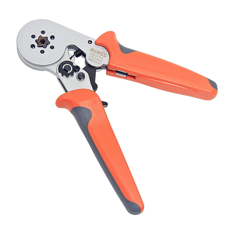 Signstek HSC8 6-6 Self-adjustable Wire Crimper Plier Crimping Tool for 0.25-6.0mm2 Cable End-sleeves