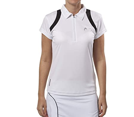 Head - Club Line Polo Women Color Blanco/Negro: Amazon.es ...