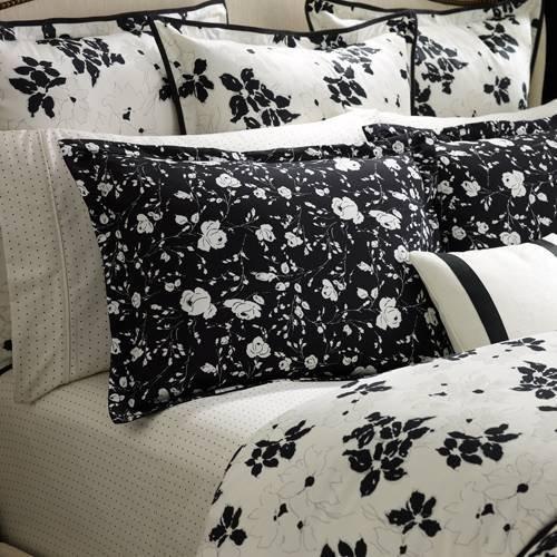 Ralph Lauren Port Palace White Floral Euro Pillow Sham