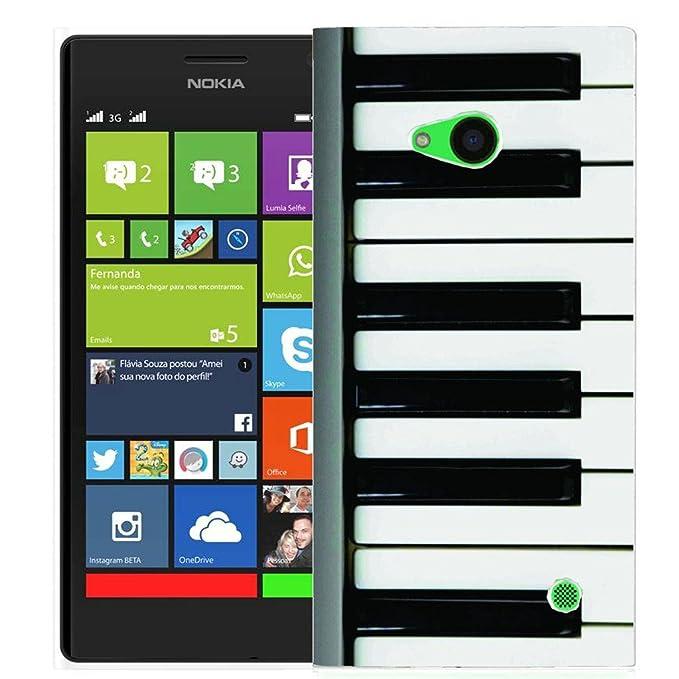 Hard Back Case cubierta rígida Impreso Funda para Nokia Lumia 730 735 – Teclado de piano