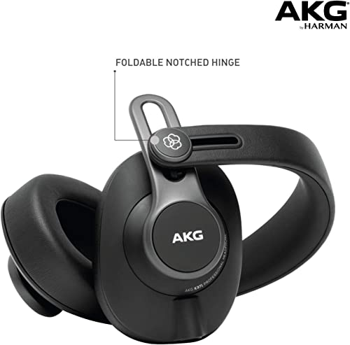 AKG Pro Audio K371 Over-Ear, Closed-Back, Foldable Studio Headphones