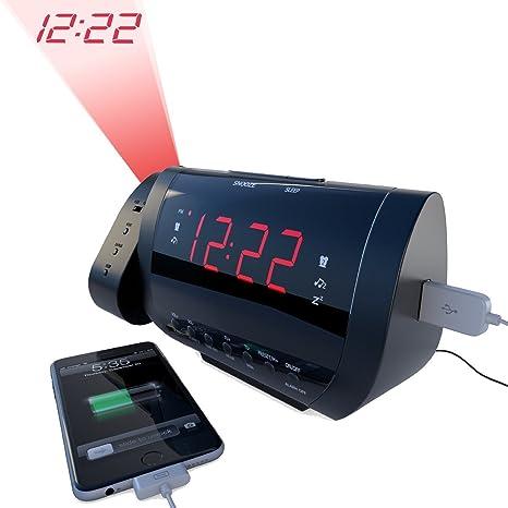 Amazon.com: Edge Pro reloj despertador con radio y cargador ...