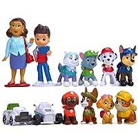 MEMOVAN Paw Dog Patrol Cake Toppers-12Pcs Paw Patrol Birthday Cake Topper Cupcake Topper, Children Mini Figurines Toy…