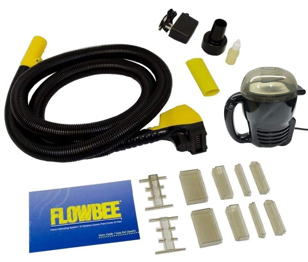 Flowbee Home Haircutting System with Flowbee Super Mini-Vac – Clipper Head Hose, Vacuum Accessories Included.