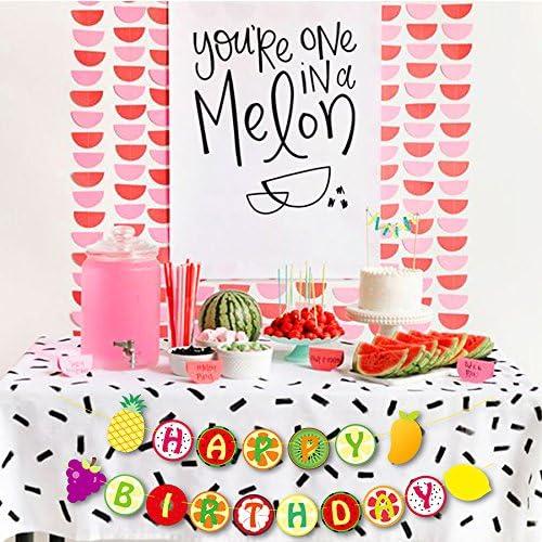Yaaaaasss Tutti Frutti Banner Kids 2nd Birthday Party Decoration Supplies