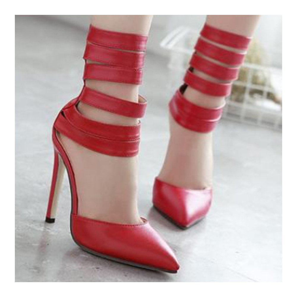 Roman Style Pointed High Heel 37 Sandals red 37 Heel Parent B01F4Q5OXW 50d1bf