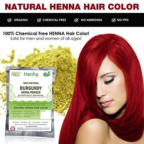 Allin Exporters Burgundy Henna Hair Color 100 Organic