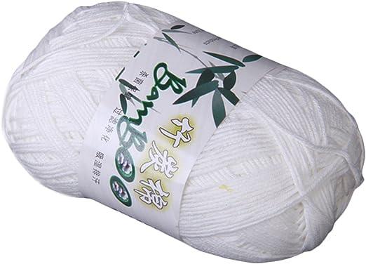 Tencel Bambú Hilados De Algodón Para Bebés - Blanco: Amazon.es: Hogar