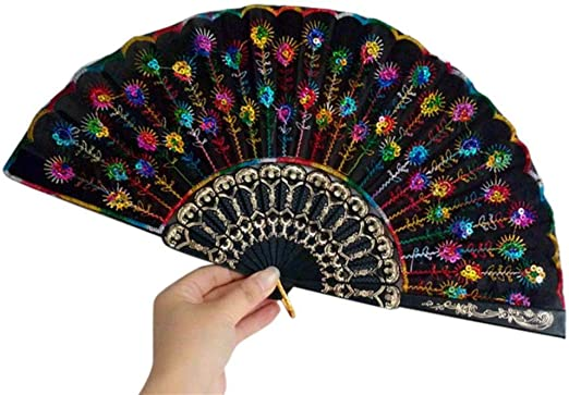 Ventilador de mano plegable de seda española de encaje abanico de ...