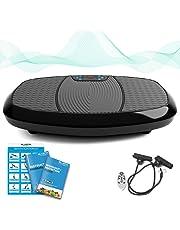 Bluefin Plateforme Vibrante Fitness à Doubles Moteurs 3D | Oscillation, Vibration + Mouvement 3D | Grande Surface | Haut-parleurs Bluetooth | Perte de Poids Extrême | Maigrir de chez soi