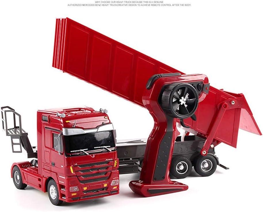 S2F5 ABS plástico de la ingeniería eléctrica Camión con Cool Light Music remoto de control técnico de vehículos recargables Rc grúa camiones volquete del coche de la función completa el juguete for la