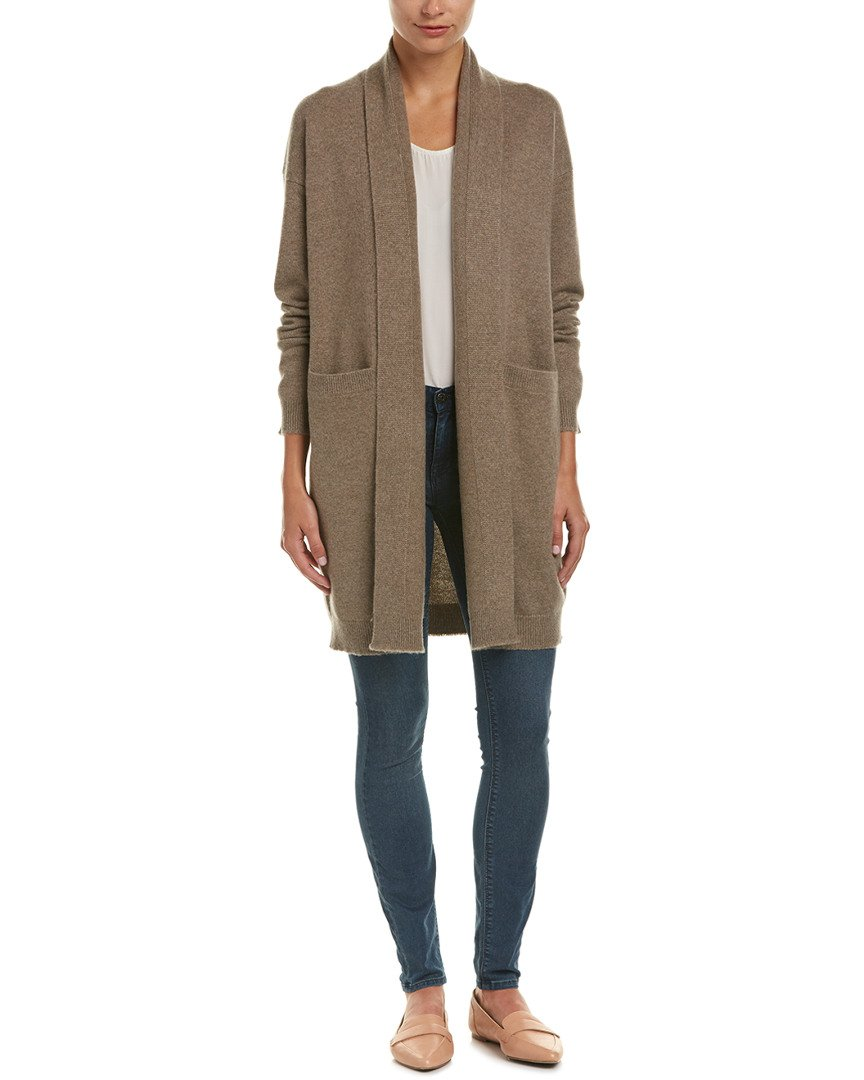 Vince Women's Coat, Heather Toast, L by Vince (Image #1)
