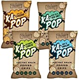 Ka-Pop! Popped Chips Gluten Free Snacks, 3.25 oz (Variety, 4 Pack)
