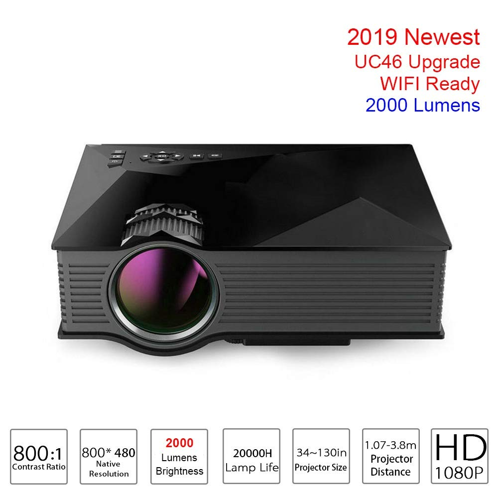 QFTFX 2000 lúmenes Proyector UC46 Actualización Proyector de Video ...