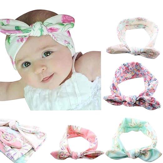Baby Hairband For Girls, VEKDONE Baby Infant Kids Girls Rabbit Ears Hairband Turban Bowknot Headwrap