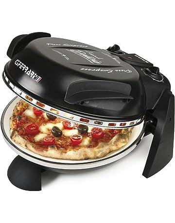 G3 Ferrari G10006B - Horno individual para pizza, 1200 W, color negro