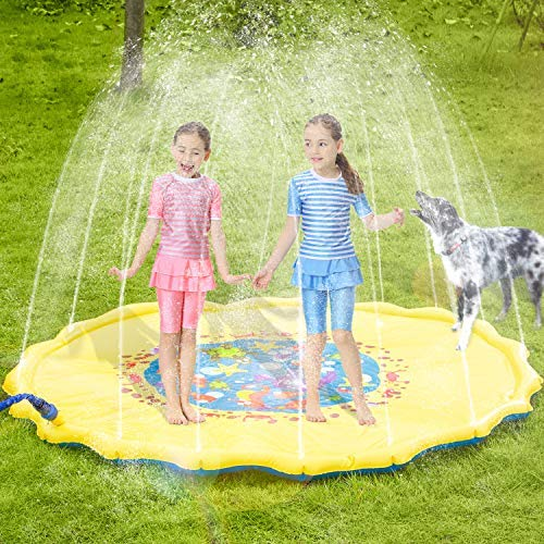 Girls Perfect Inflatable Outdoor Splash Mats Buorsa Splash Pad 68 Kid Sprinkler Toy for Children Infants Toddlers Boys