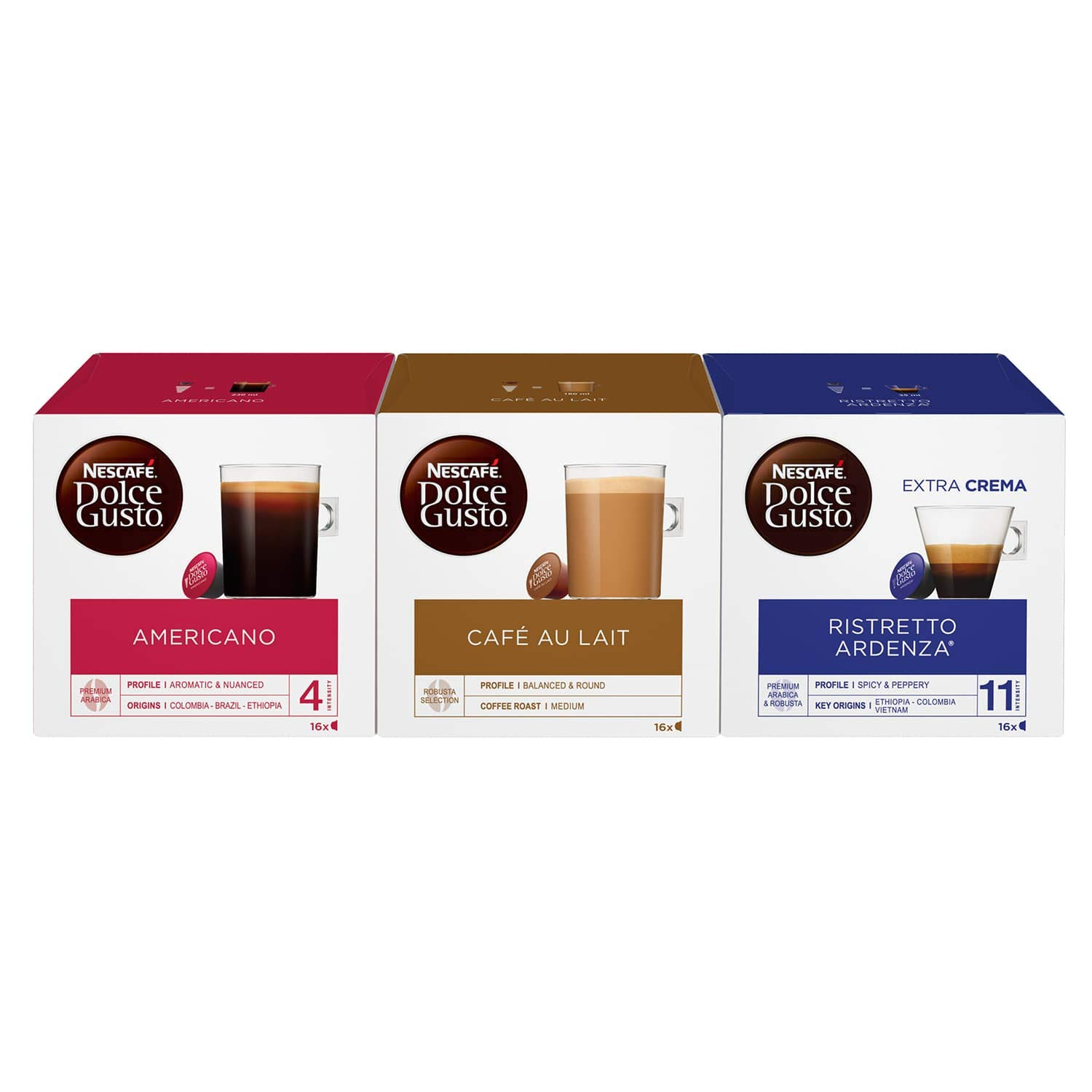 NESCAFÉ Dolce Gusto Everyday Coffee Lover Bundle, 16 Capsules (Pack of 3, Total 48 Capsules, 48 Servings)