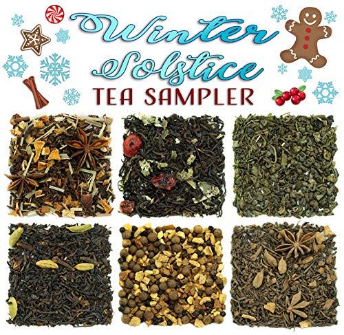 Winter Solstice Loose Leaf Tea Sampler; 6 Winter Inspired Black, Green, Herbal Tea ()