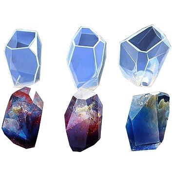 ARTSTORE DIY Moldes de silicona de diamante multifacetados para fabricación de joyas, fibra de vidrio, manualidades, resina epoxi: Amazon.es: Hogar