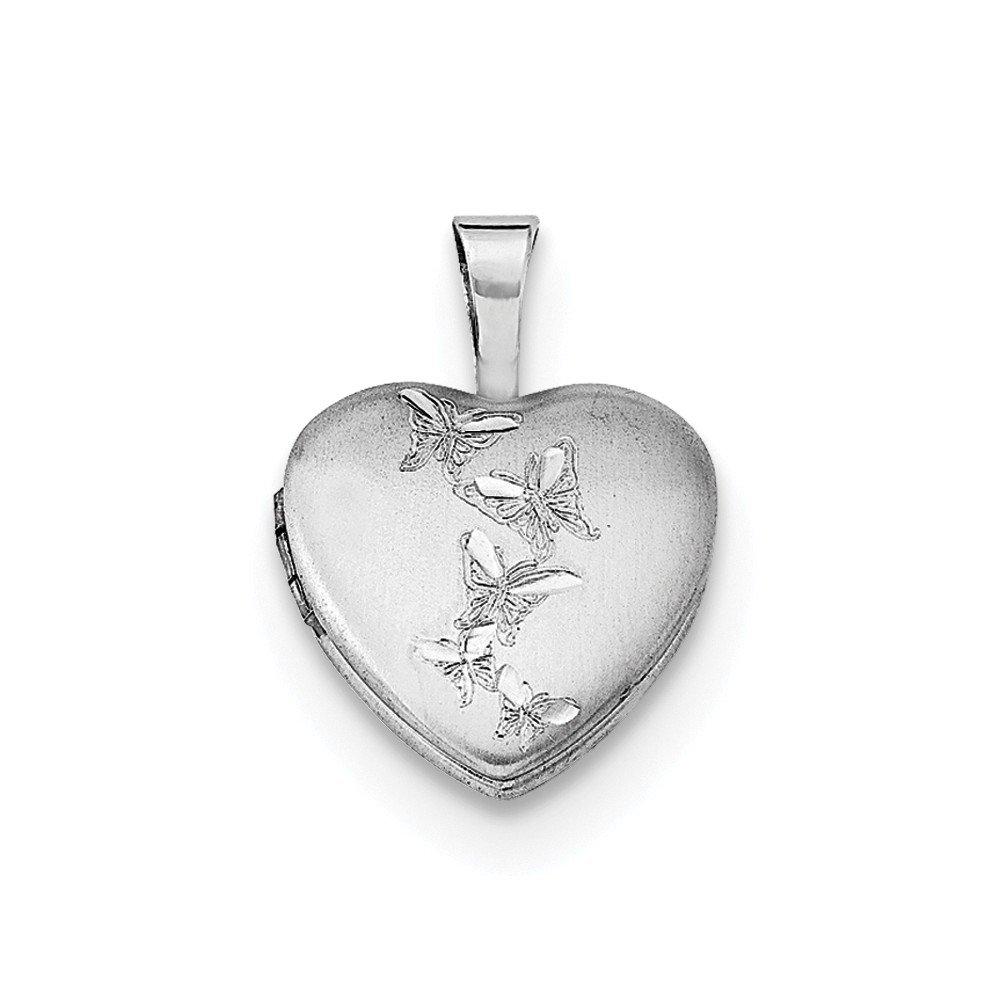 Jewel Tie Sterling Silver I Love You 12mm Heart Locket