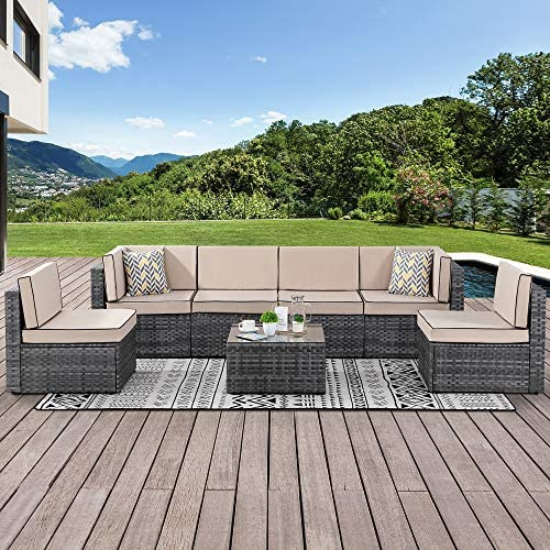Walsunny 7 Piece Outdoor Patio Furniture Sets