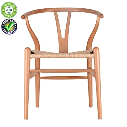 Solid Wood Dining Chair Cafe Rattan Chair Household Log Computer Chair Y  Chair Wishbone Backrest (