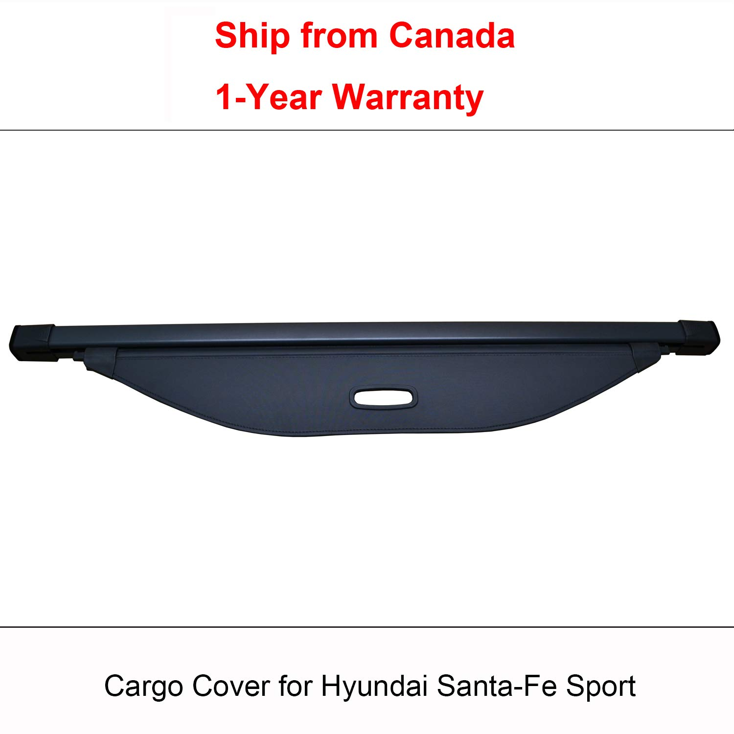 2015 Ship from Canada 2016 1-Year Warranty Findway Black Retractable Rear Trunk Cargo Luggage Security Shade Cover Shield for Hyundai Santa-Fe Sport 2018 2017
