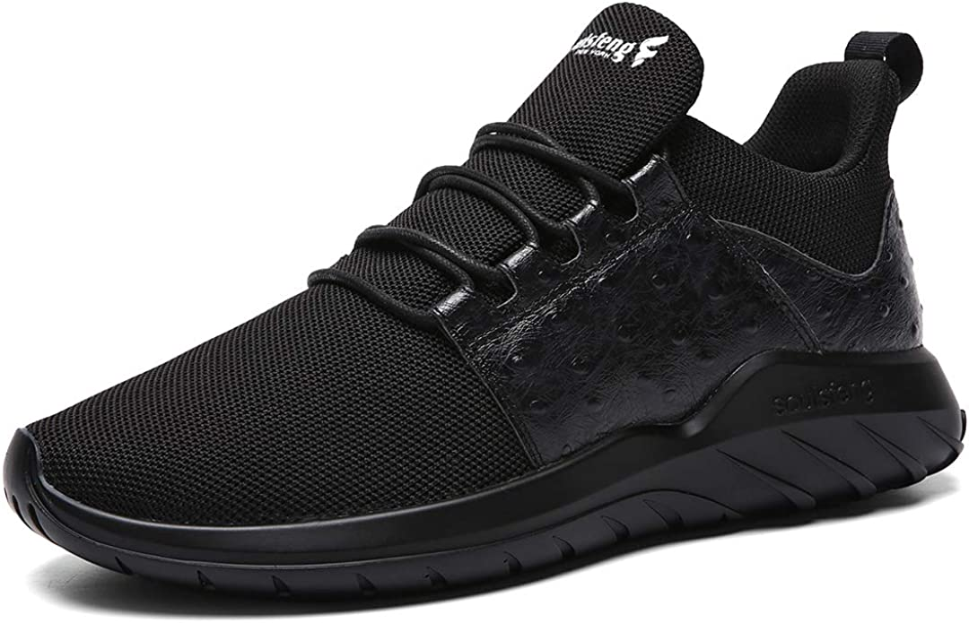 Soulsfeng Mens Running Shoes Mesh Breathable Lightweight Cushioning Training Athletic Sneakers