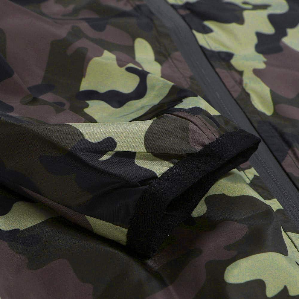 iLXHD Zip Casual Camouflage Slim Pocket Fit Hoodies Jacket Coat
