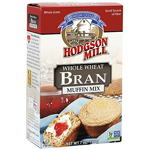 Whole Wheat Bran Muffins - Hodgson Mill Bran Muffin Mix 7-Ounce Boxes (Pack of 8), Whole Wheat Bran Muffin Mix, Cholesterol Free, Good Source of Fiber