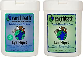 product image for Earthbath Dog Cat Grooming Bundle - (1) Each: Ear Wipes and Eye Wipes, 25 count