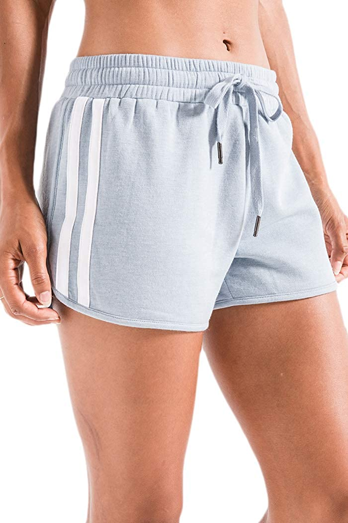 Z Supply ZS191675 The Feathered Fleece Short in Dusty Blue