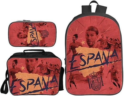 Schoolbag Mochila Escuela 3D para Niños España Estrella De Fútbol ...