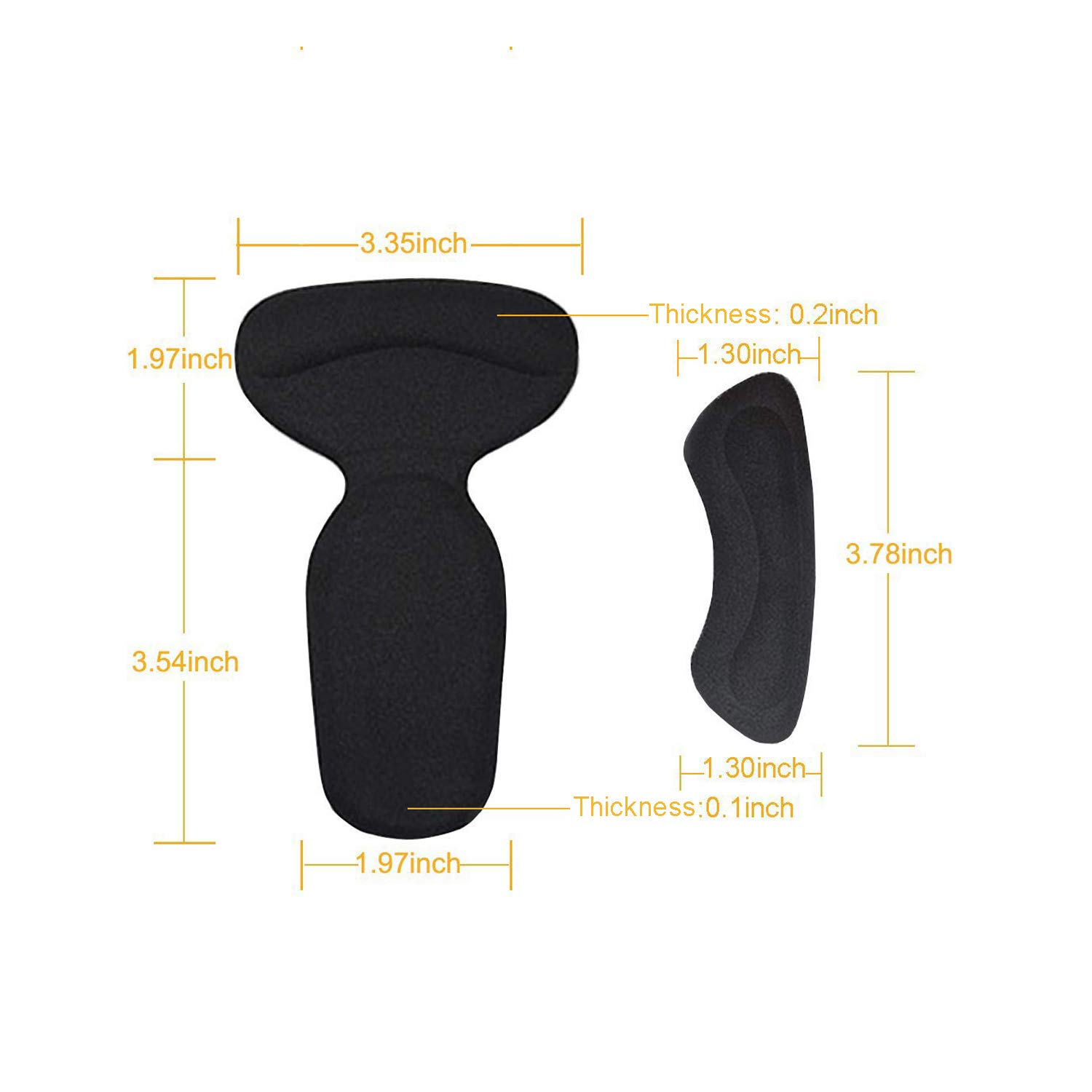Clear Heel Cushion Inserts Heel Pain Relief Bunion Callus Blisters- 6 Pairs Reusable Soft Shoe Inserts Heel Cushion Pads Self-Adhesive Foot Care Protector Grips Liners Loose Shoes