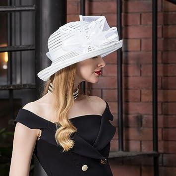 FEI Elegante Sombrero de Copa Sombrero Sombrero de Moda Sombrero de Verano  Sombrero de Playa Sombrero de Verano para Mujeres  Amazon.com.mx  Hogar y  Cocina e3ead375c6b